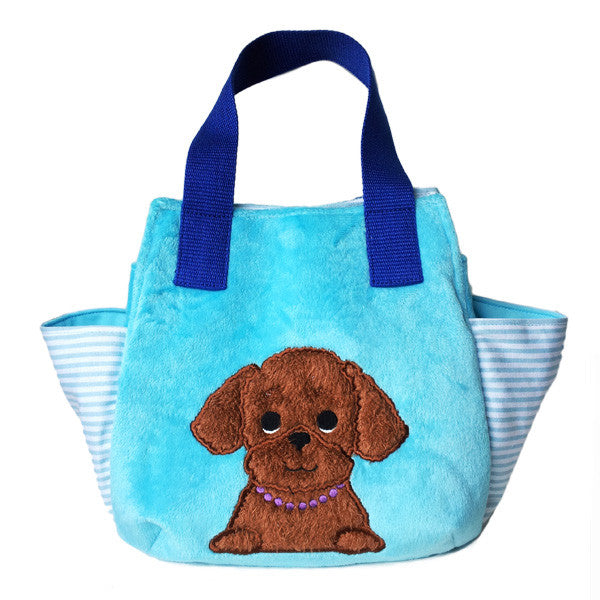 Poodle Soft Tote Bag -Blue