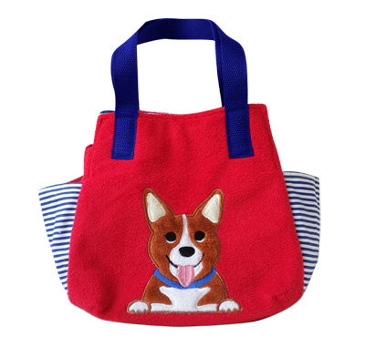 Corgi Soft Tote Bag - Red