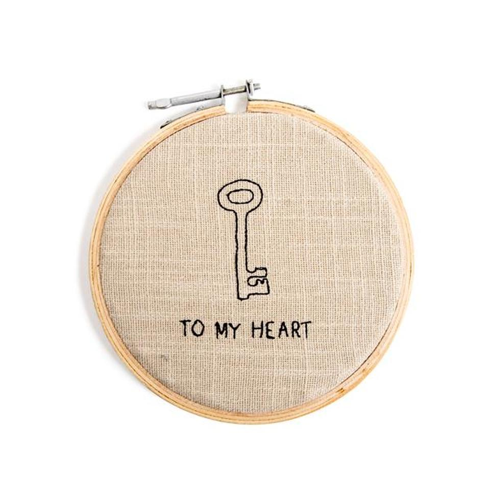 To My Heart Embroidery Hoop