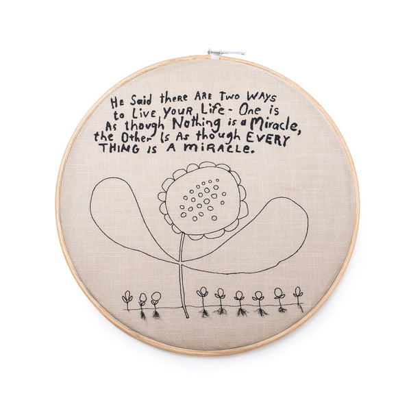 Two Ways To Live Embroidery Hoop