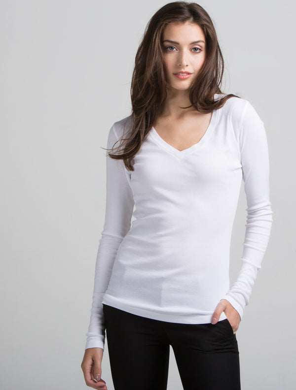 Long Sleeve V Neck