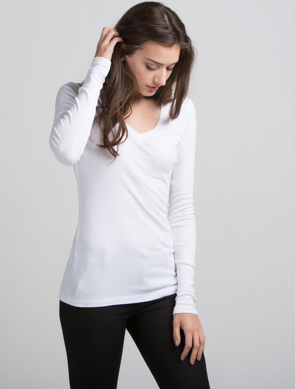 Long Sleeve Deep V