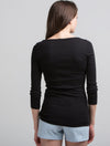 3/4 Sleeve Wide Scoop (Black)