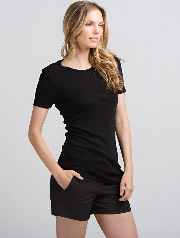 Short Sleeve Crew (Black)