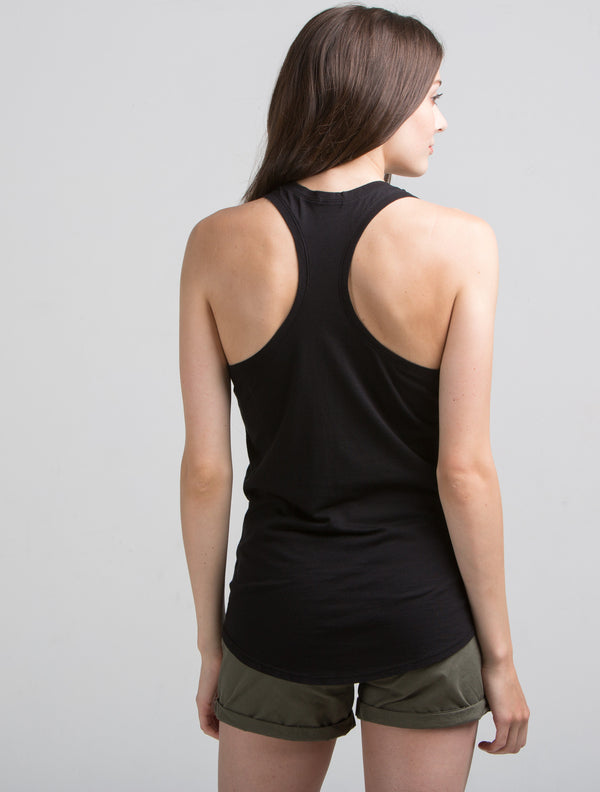 Slub Racer Back (Black)