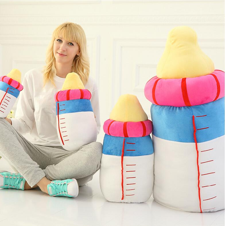 Baby Bottle Plush Pillow