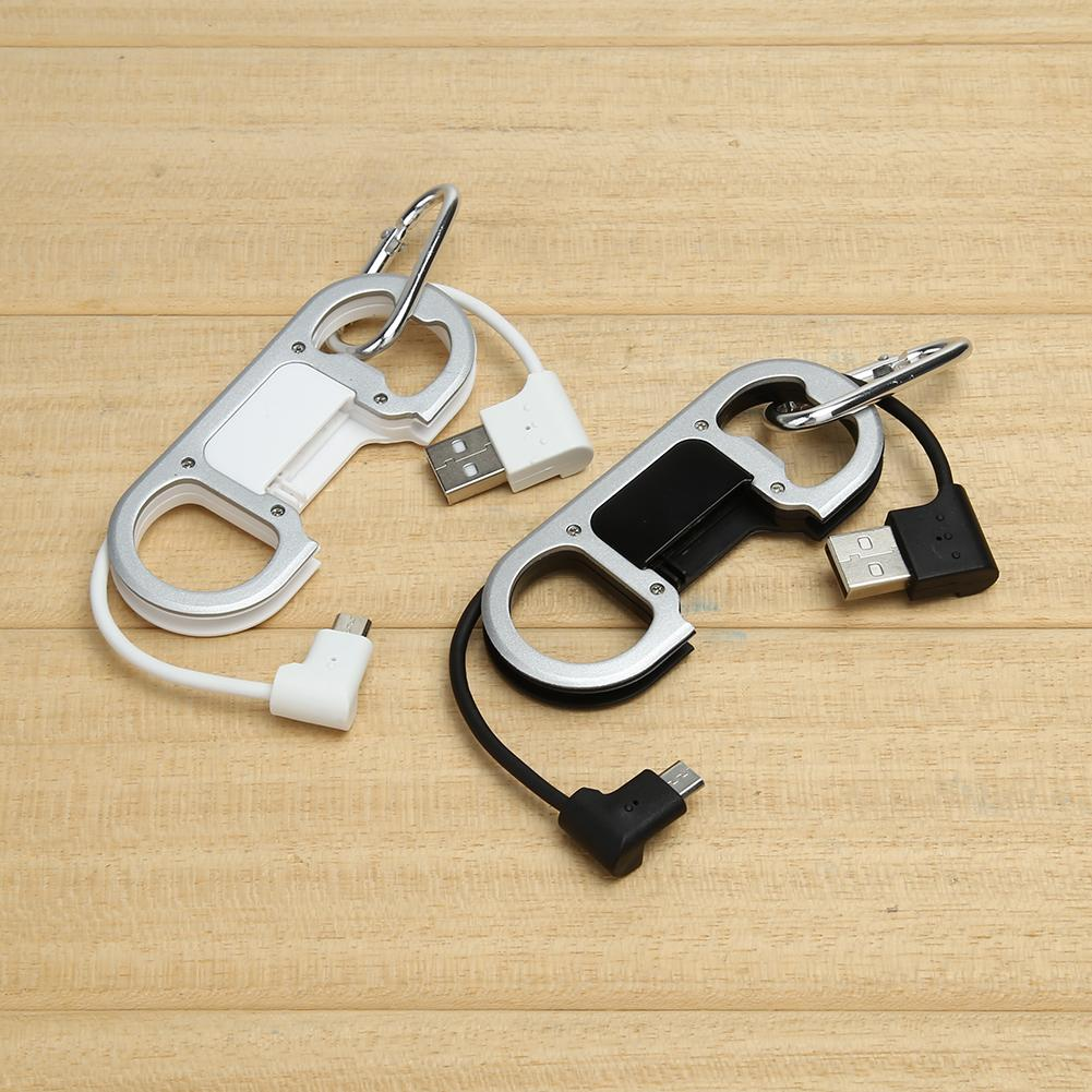 Bottle Opener and Micro-USB Charger Keychain