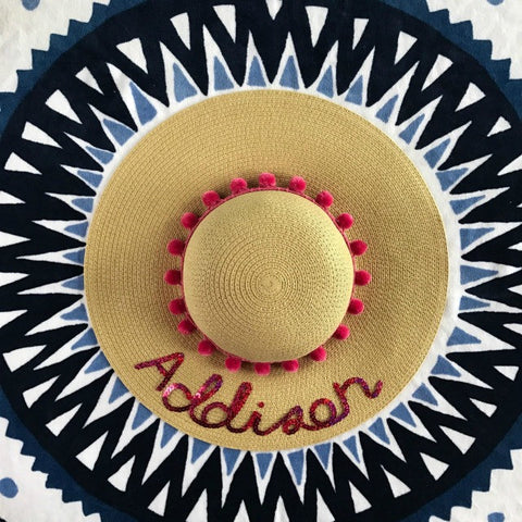 Girl's Custom Sun Hat