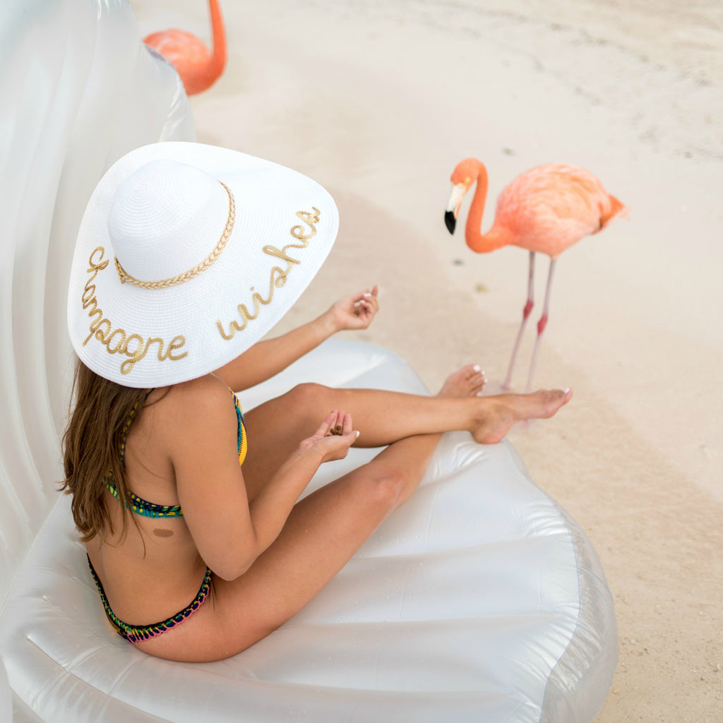 White Floppy Sun Hat