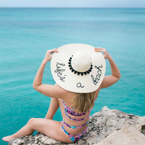 Life's a Beach Women's Floppy Sun Hat