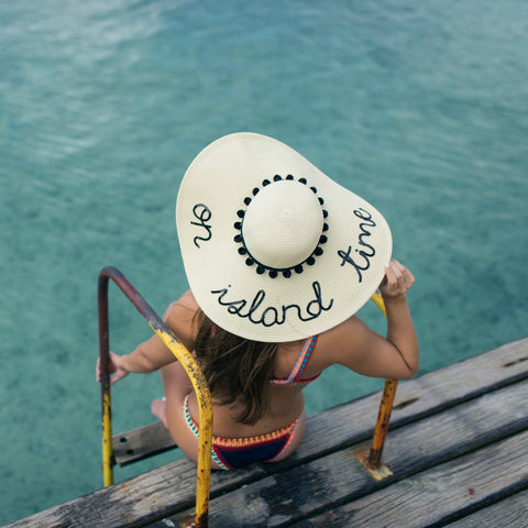 On Island Time Women's Floppy Sun Hat