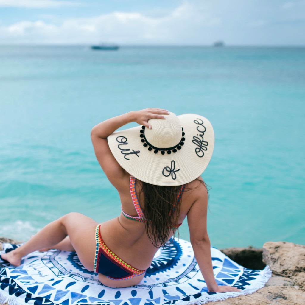 Out of Office Women s Floppy Sun Hat – Hats by Olivia 7c3d11547571