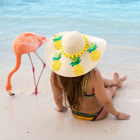 Pineapple Women's Floppy Sun Hat