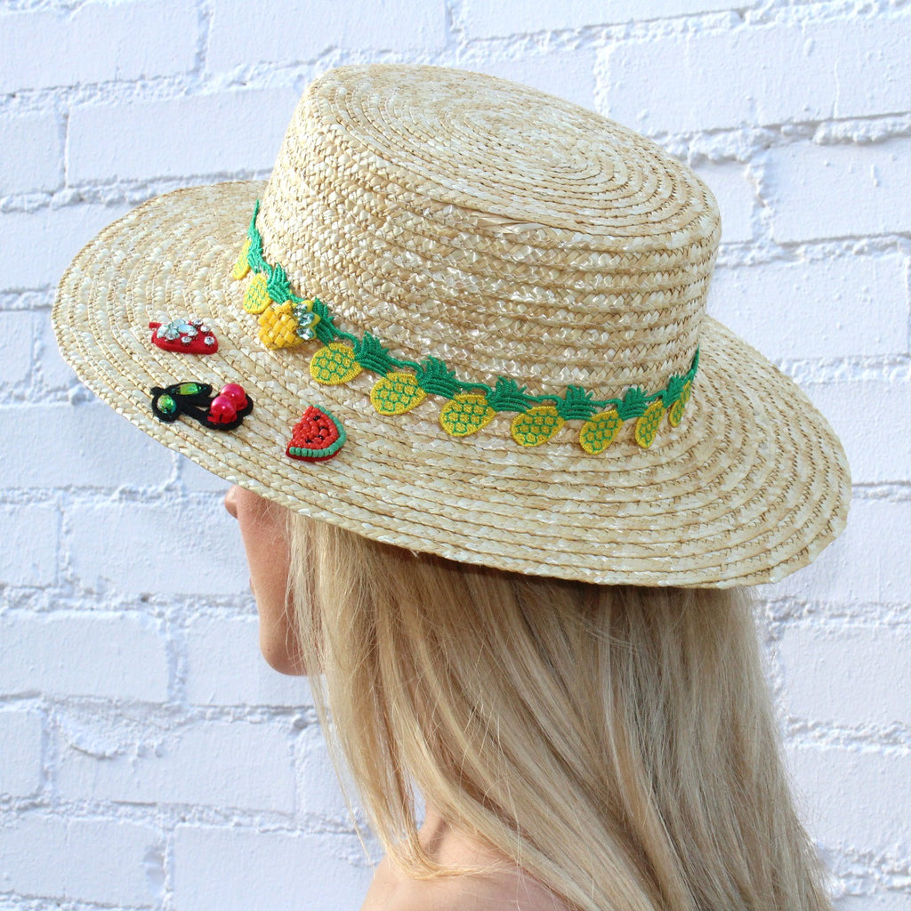Tutti Fruitti Boater – Hats by Olivia c9227dd70424