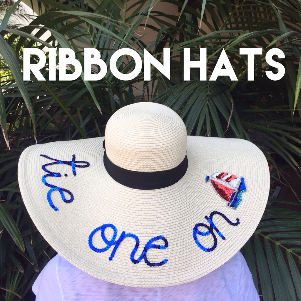 Custom Ribbon Floppy Sun Hat