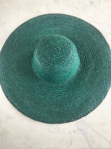 Sample - Paper Straw Floppy Hat in Aqua
