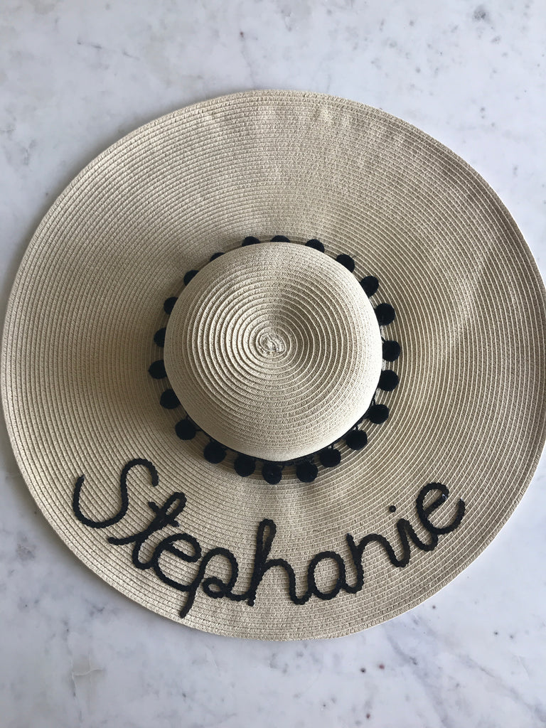 Sample - Natural Floppy Hat with Stephanie