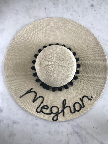 Sample - Natural Floppy Hat with Meghan