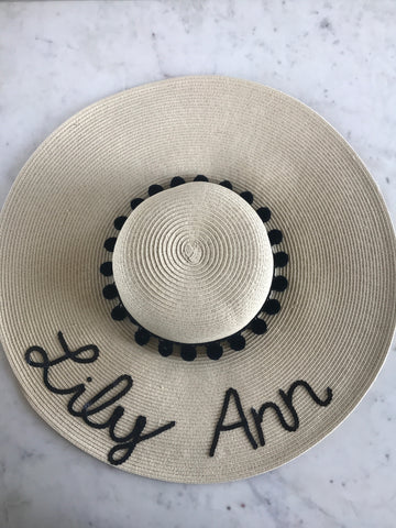 Sample - Natural Floppy Hat with Lily Ann