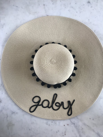 Sample - Natural Floppy Hat with gaby