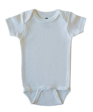Blank Baby Bodysuits, Pack of 6