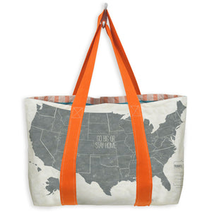 Write-On Travel Tote Bag: US Map