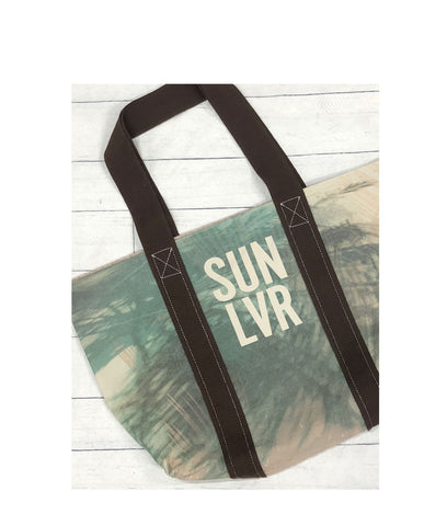 SUN LVR Palms Canvas Reversible Tote