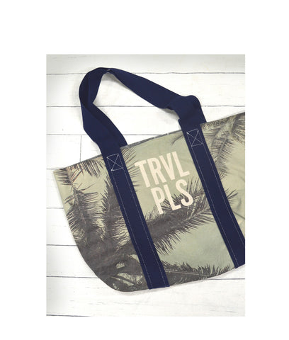 TRVL PLS Canvas Reversible Tote