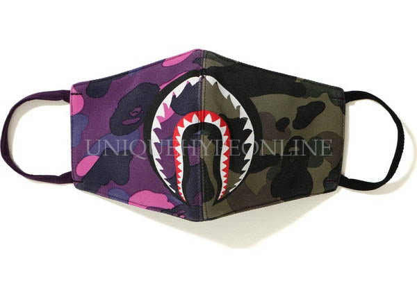 BAPE Half Camo Shark Face Mask