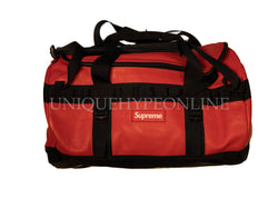 Supreme The North Face Leather Base Camp Duffle FW17 Red