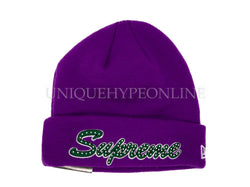 Supreme New Era Script Beanie FW18 Purple