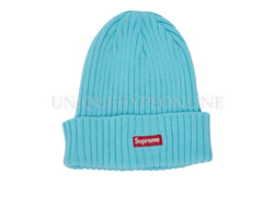 Supreme Overdyed Ribbed Beanie SS18 Teal