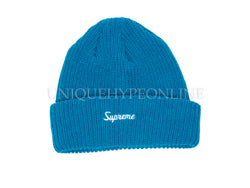Supreme Overdyed Ribbed Beanie SS17 Blue