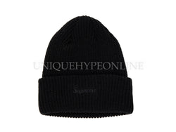 Supreme Overdyed Ribbed Beanie SS17 Black