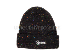 Supreme Colored Speckle Beanie FW18 Black