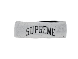 Supreme New Era Sequin Arc Logo Headband White