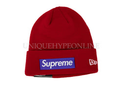 Supreme New Era Box Logo Beanie FW17 Red