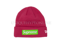 Supreme New Era Box Logo Beanie FW17 Magenta