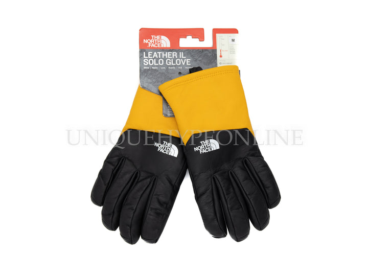 Supreme The North Face Leather Gloves FW17 Yellow