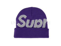 Supreme Big Logo Beanie FW18 Bright Purple