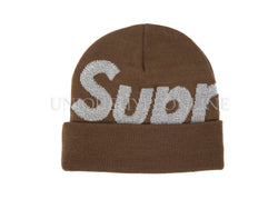 Supreme Big Logo Beanie FW18 Brown