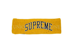 Supreme New Era Sequin Arc Logo Headband FW18 Yellow