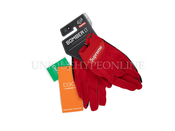 Supreme Fox Racing Bomber LT Gloves SS18 Red