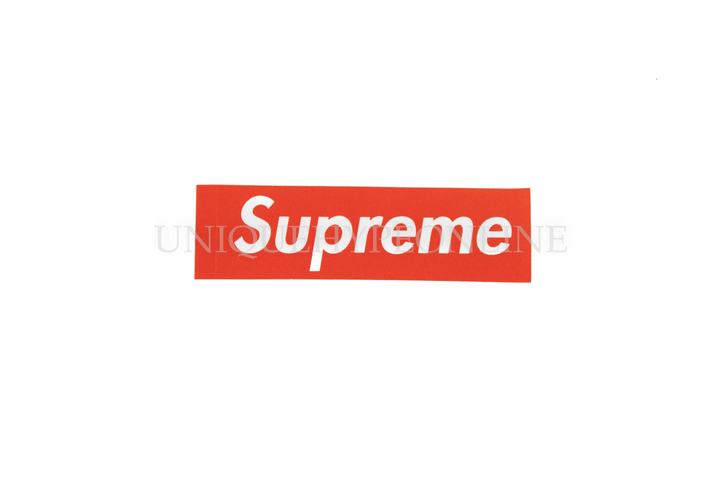 Supreme Felt Box Logo Sticker Red (Single)