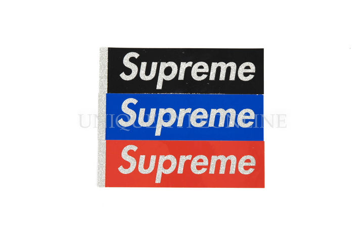 Supreme Glitter Box Logo Sticker (Set of 3)