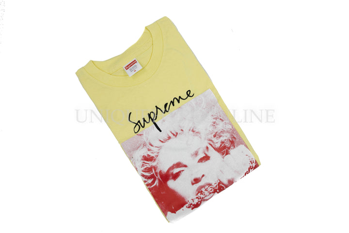 Supreme Madonna T-shirt FW18 Pale Yellow