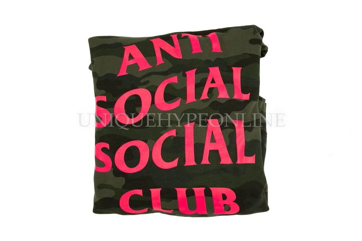 Anti Social Social Club Break Me Hooded Sweatshirt Green Camo