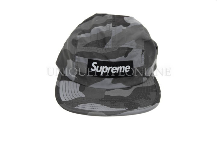 Supreme Reflective Camo Camp Cap FW18 Grey