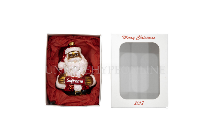 Supreme Santa Ornament FW18 Red