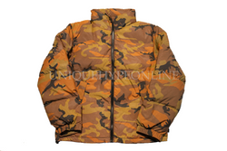 Supreme Reflective Camo Down Jacket FW18 Orange Camo
